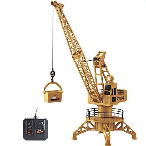 Grúa de carga de arena tierra Excavadora Modelo Niño remoto Control de elevación del gancho de la máquina Vehículo de juguete de construcción de vías de la máquina niveladora inalámbrica eléctrico Sim