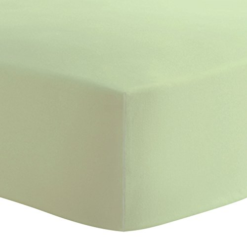 Kushies Organic Jersey Crib Fitted Sheet, Green by Kushies