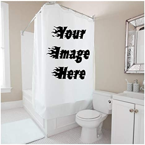 Custom Shower Curtain 60 w x 72 h Personalized Waterproof Polyester Curtain with Hooks Create product image