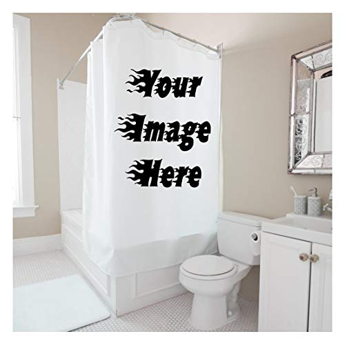 """Custom Shower Curtain 40"""" w x 72"""" h Personalized Waterproof Polyester Curtain with Hooks,Create Your Own Shower Curtain Here"""