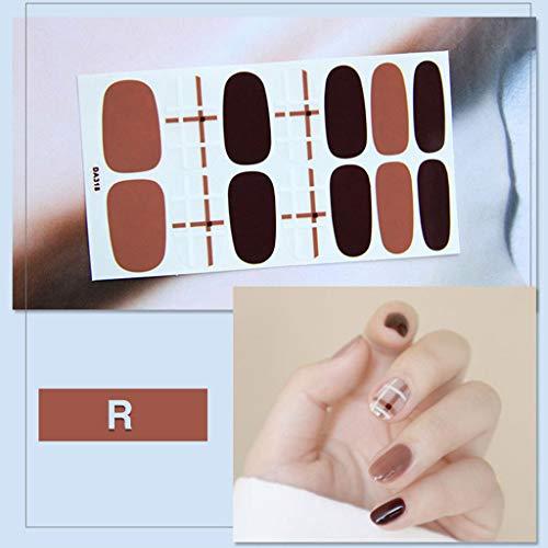 Autocollant à Ongles 3D, 2020 Mode D'été Nail Art Glitter Autocollants 3D Auto-Adhésif Vernis À Ongles Wraps Decal Strips Lime à Ongles Service AdhéSif Nail Art Stickers Kits de Manucure