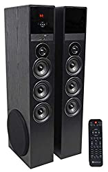 top 10 samsung entertainment system Rockville TM150B Black 10 Sub / Blueooth / USB Tower Home Theater Speaker