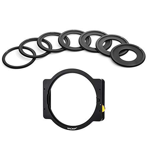 TOPTOO Portafiltri quadrati in metallo con anelli 52mm 58mm 62mm 67mm 72mm 77mm 82mm Filtro Adater per obiettivo DSLR ILDC