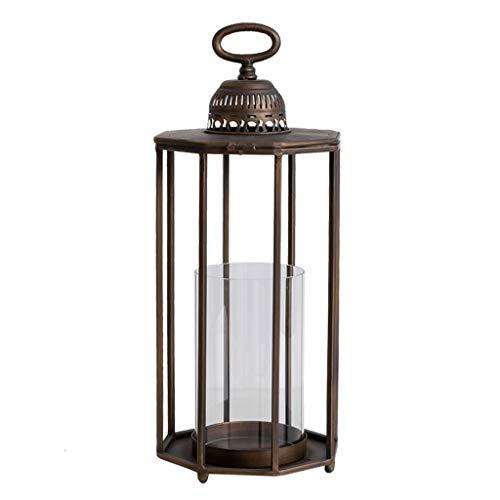 Afairy 14' Tall Vintage Decorative Lantern - Indoor Lanterns Decorative,Outdoor Hanging Lantern,Decorative Candle Lanterns (Size : Large)