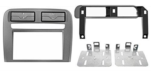 Soporte Autoradio 2DIN para Fiat Grande Punto Color Gris Metalizado