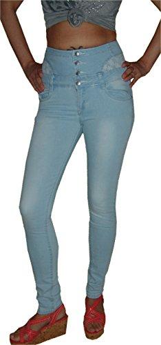 Goodies Damen Corsagen Hochschnitt Stretch Jeans Hose, Taillenjeans, K-050, Gr.38