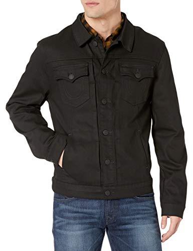 True Religion Herren Dylan Denim Jacket Jeansjacke, Nachtfall, Small