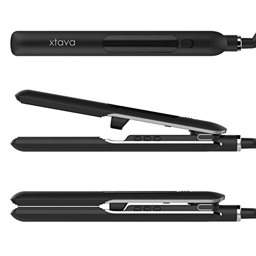 xtava Steam Flat Iron Hair Straightener - 1 Inch Professional Ceramic Flat Iron