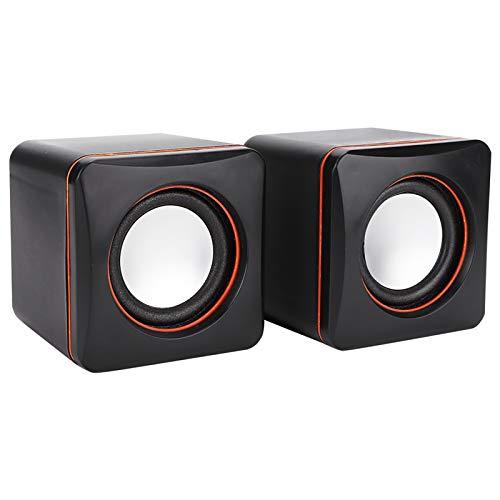 Ranvo USB-Lautsprecher, PC-Lautsprecher Kompakter 3,5-mm-Cube-Stil für Laptop...