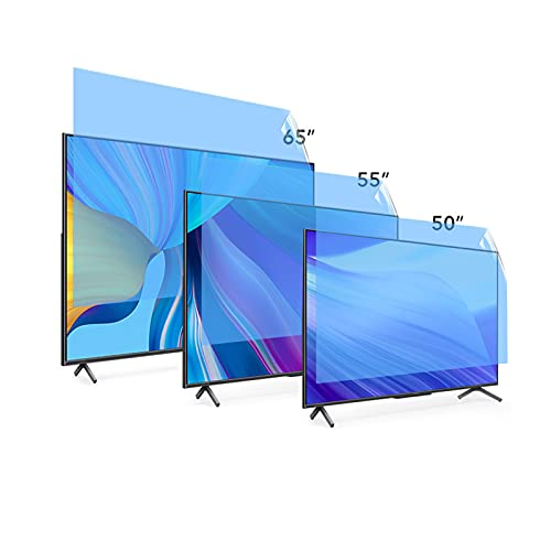 Pantalla de 49 – 75 pulgadas, antideslumbrante, antiarañazos, bloquea 96% película de protección contra la luz azul UV para accesorios de TV PS5, 55 pulgadas, 1221 x 689
