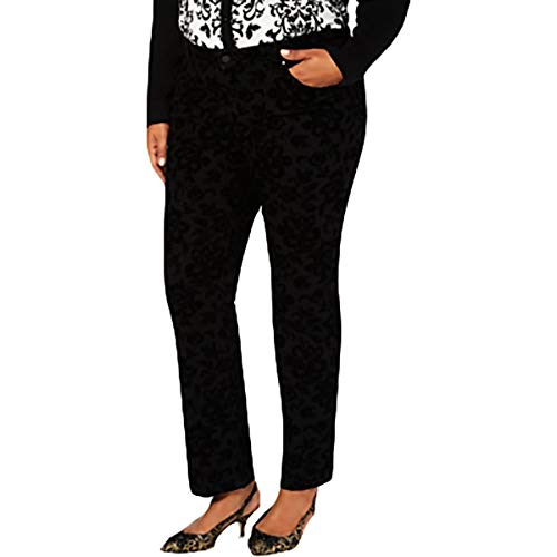 Charter Club Womens Plus Lexington Denim Slimming Straight Leg Jeans B/W 24W