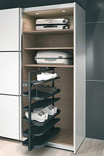 GedoTec Extraible mueble zapatos Extensión de armario Soporte para zapatos Almacenaje de zapatos 180° girable Marca de calidad para su Sala de estar - Korpushöhe 1000 mm