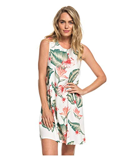 Roxy Harlem Vibes Robe sans Manches Femme, Marshmallow Tropical Love, FR : M (Taille Fabricant : Medium)