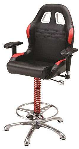 Pitstop Furniture BC6000R Red Crew Chief Bar Chair