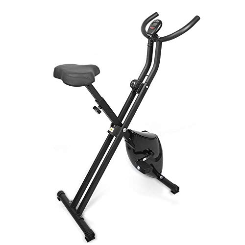 EVOLAND Cyclette da Allenamento, Home Trainer Bicicletta da Fitness S-Bike Cyclette Macchine per Training Aerobico Fitness e X-Bike, 120 kg capacità (X1-Nero)