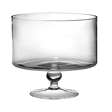 Barski European Beautiful Hand Made Glass Large Trifle Bowl, 9.5 D , 170 oz (over 5 quarts) Clear