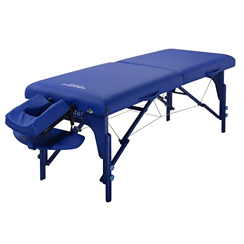 Master Massage 71cm Montclair mobiel draagbaar massagebed massage bed massage bed cosmetica ligstoel (Standard Imperial Blue)