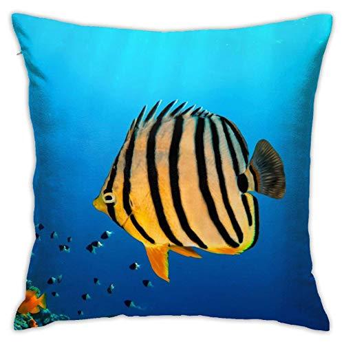 FARRELL Throw Pillow Covers Ocean Sea Coral Fish Funda de Almohada Funda de cojín Decoración Decorativa para el hogar