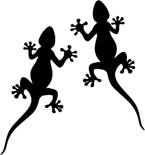 Tribal Gecko Car,Camper Van Land rover 4x4 Stickers 3