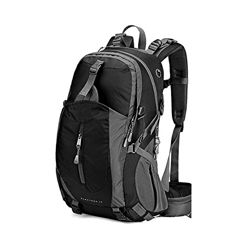 Outdoor Camping Daypack,Hiking Backpack,50L Large Capacity Backpack with Rain Cover for Men And Women Travel Touring Climbing,Black