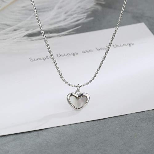 Pulsera Pulsera De Plata De Ley 925 Simple A La Moda para Mujer, Concha Lisa, Amor, Pulseras Geométricas En Forma De Corazón, Collar De Regalos