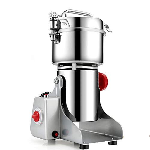 QZC La Cocina Molino de Granos Amoladora de Alta Velocidad de la máquina con Polvo extraíbles Soporte Antideslizante Portable de la Seguridad Triple Cuchilla