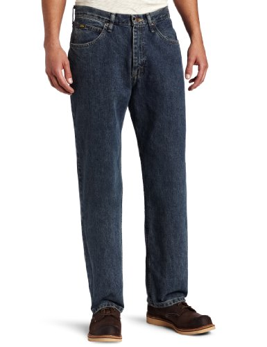 Lee Men's Relaxed Fit Straight Leg Jean, Delta, 30W x 30L