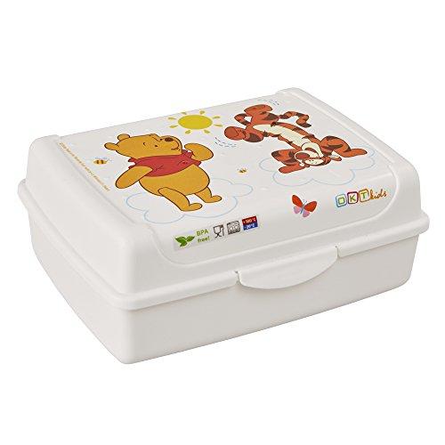 keeeper Disney Winnie Puuh Brotdose mit Klickverschluss, 17 x 13 x 7 cm, 1 l, Olek, Weiß