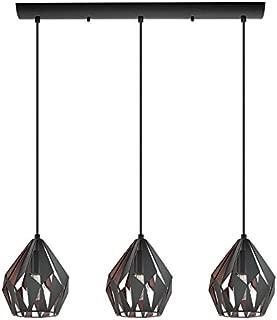3x60W Linear Pendat w/Matte Black & Copper Finish