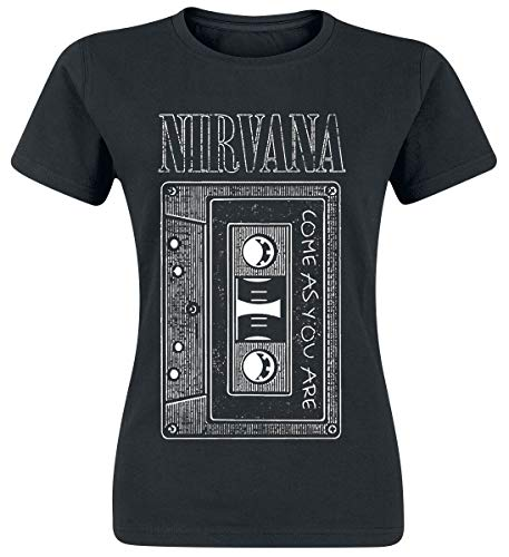 Nirvana As You Are Tape Camiseta Mujer Negro S