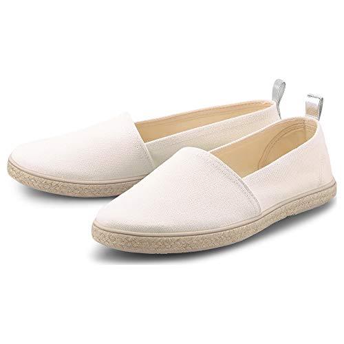 Flare & Brugg Damen Trend-Espadrille Weiß Textil 41