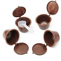 King DO WAY 4en 1reutilizables filtros cápsulas de café Espresso con cuchara para Dolce Gusto Reusable Coffee Capsule Cup 53mmx30mm
