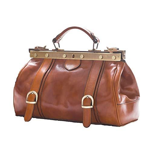 Arzttaschen aus Leder - 0006 Cognac - Luxury - Leather Bags Tuscany