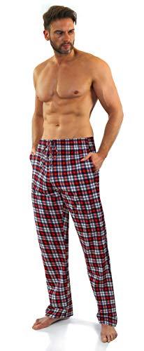 sesto senso Pantaloni Pigiama Uomo Lunghi Cotone Cotone Quadri Confezione da 1 o 2 Pezzi Pjama Scachi L 12