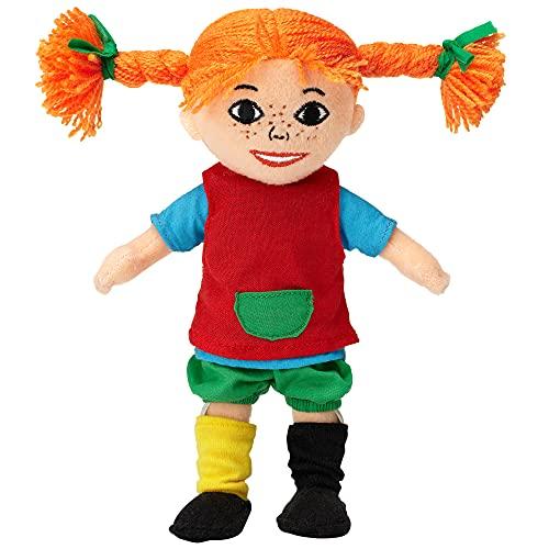Micki & Friends 44371600 - Pippi Langstrumpf Puppe 20 cm - Stoffpuppe - Teddy - Plüschpuppe - abnehmbare Kleidung - ab 10 Monate
