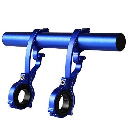 Betterle Fahrrad-Lenkerverlängerung, doppelte Lenkerverlängerung, Kohlefaser-Halterung mit Aluminiumlegierung, Fahrradzubehör, platzsparend, blau