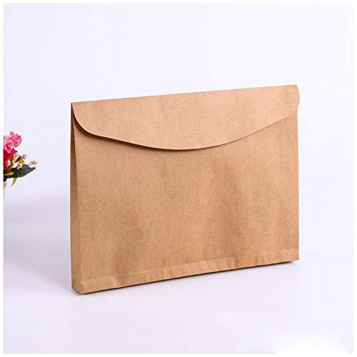 Heng 10st horizontale documenten zakken bestand houder blanco dikke kraftpapier envelop geschenkverpakkingen zakken