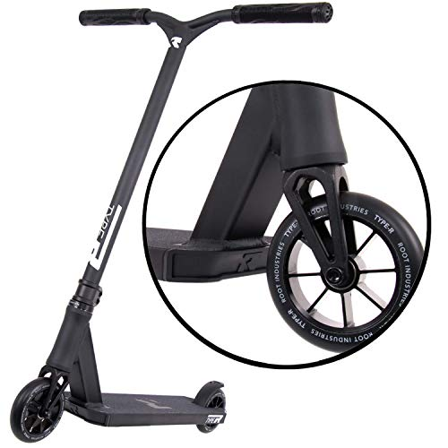 ROOT INDUSTRIES Type R Complete Pro Scooter - Pro Scooters - Pro Scooters for Adults/Pro Scooters for Kids - Quality Scooter Deck, Pro Scooter Wheels, Pro Scooter Bars - Awesome Colors (Matte Black)