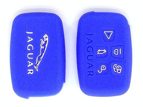 Protex Coque de protection fine en silicone de qualité pour télécommande sans clé de Jaguar XK XF SE XFR 2015 Bleu