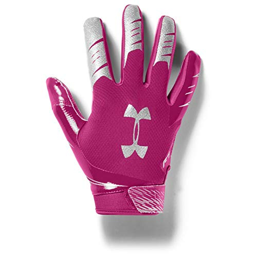 Under Armour Men's F7 Football Gloves , Tropic Pink (654)/Metallic Silver , XX-Large