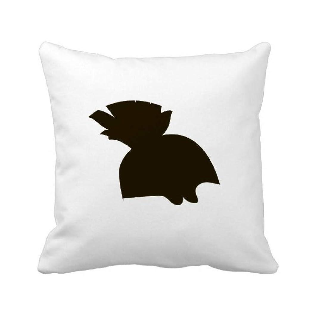 ワイプキネマティクスお肉黒のハリネズミ動物の描写 パイナップル枕カバー正方形を投げる 50cm x 50cm