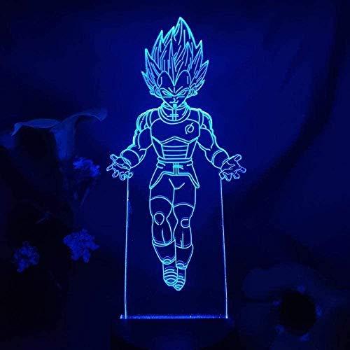 Lámpara 3D LED Luz de noche Ilusión Sensor táctil Lámpara Decoración para el hogar Niños Dormitorio Cama 16 colores