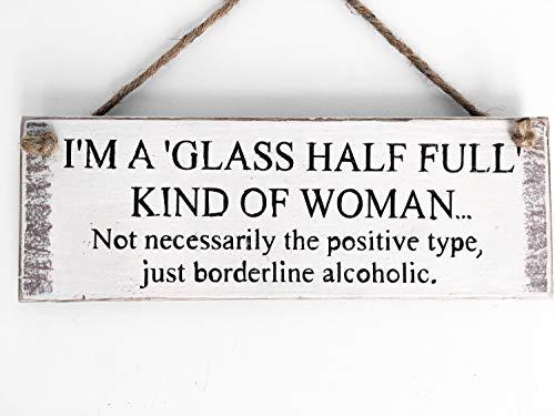 Prz0vprz0v - Señal de madera con texto en inglés 'Gift for Her Gift for Her Wife', regalo divertido para amantes del vino, regalo para novia, regalo de cocina, para mejor amigo, para puerta de vino, 4 x 12 pulgadas