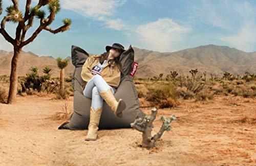 Fatboy SLM-OUT-CHAR Original Slim Outdoor Bean Bag Lounge Chair, Charcoal