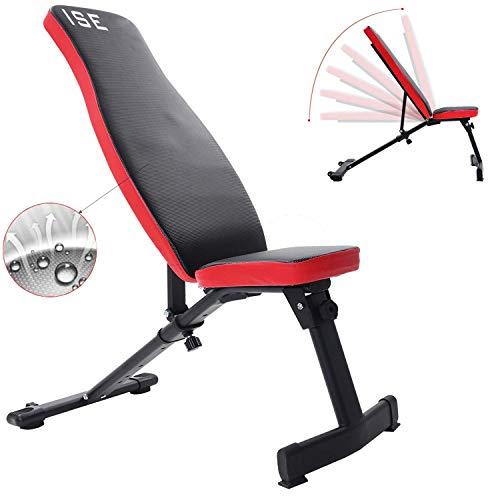 Misure (L x l x h): ca. 115/45/44-114cm. Telaio in acciaio, schienale (6possibilità di regolazione) e seduta in similpelle con imbottitura in schiuma, supporto per posizionare le gambe Opzioni di allenamento versatili: esercizi addominali, svilup...