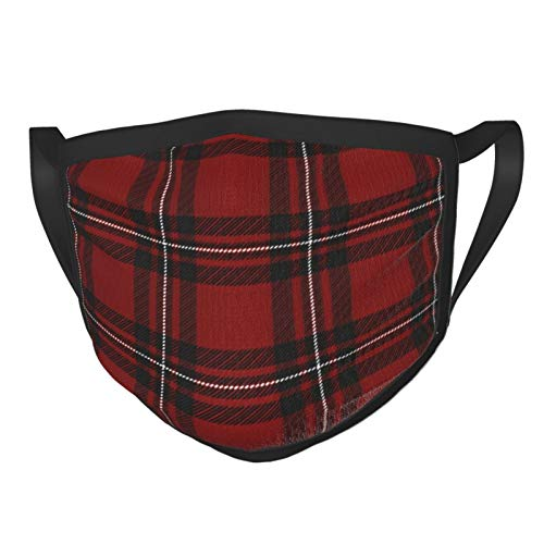 ZVEZVI Mac Gregor Tartan Scottish Cage Lattice Adult Face Balaclavas Bandana Mouth Cover Protective Covering Mask For Women And Men