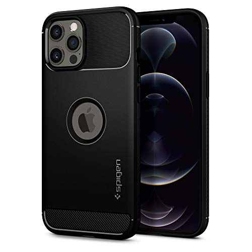 Spigen Rugged Armor Designed for iPhone 12 Pro Max Case (2020) - Matte Black