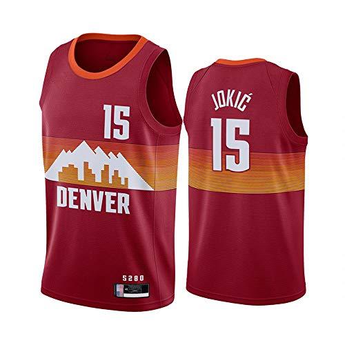 YZQ Jerseys para Hombres - Nuggets De Denver # 15 Nikola Jokic - NBA Mesh Basketball Jersey Unisex Camiseta Sin Mangas Camiseta De Baloncesto Chalecos Chalecos,M(170~175cm/65~75kg)