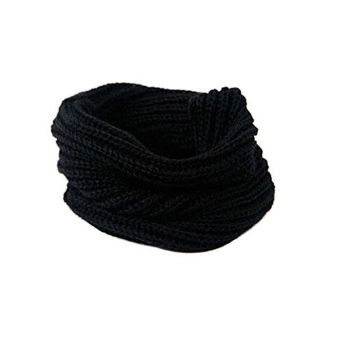 BESTOYARD Sciarpa scaldacollo maglia Copricollo invernale morbido e caldo unisex in Nero