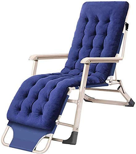 OESFL Reclining Chair Foldable Lounge Chair Garden Chair Sun Loungers Weightlessness Chair Sun Loungers Folding Table with Cushions Max.200kg - Blue